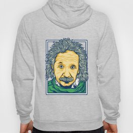 Illustration of the biggest physicist genius Albert Einstein. Hoody