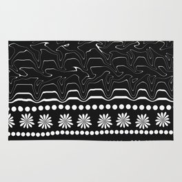 Licorice and flowers Rug