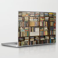books Laptop & iPad Skins featuring books by laika in cosmos