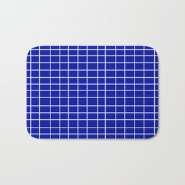 Squares of Blue Bath Mat