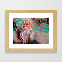 The Offended Beagle Framed Art Print