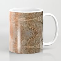 gray pattern Mugs featuring pink-gray pattern by giol's