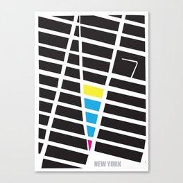 City Map New York Canvas Print
