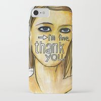 tenenbaum iPhone & iPod Cases featuring Margot Tenenbaum. by Piltrafadas Ilustracion