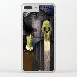 American Gothic Halloween Clear iPhone Case