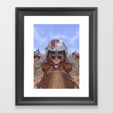 SW Hero Pilot: Anakin Framed Art Print