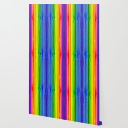 Rainbow Paint Drops on Black Wallpaper