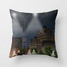 Elm City Green Throw Pillow