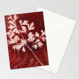 Brown Printed Leaves Stationery Cards