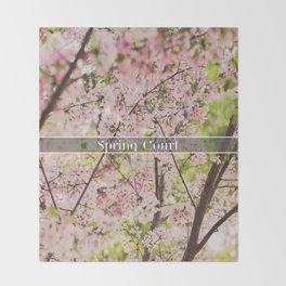 Spring Court Throw Blanket