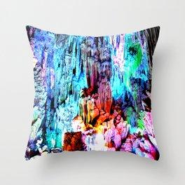 Cavern in Greece Throw Pillow