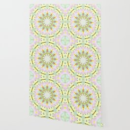 White Dream Orchid Kaleidoscope Neon Wallpaper