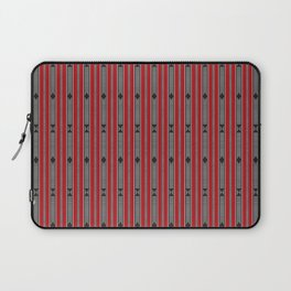 ethnic weave vertical red Laptop Sleeve