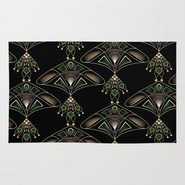 "Art Deco ""Emeralds "" Rug"