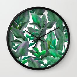 tropical leafs pattern iPhone 4 4s 5 5c 6 7, pillow case, mugs and tshirt Wall Clock