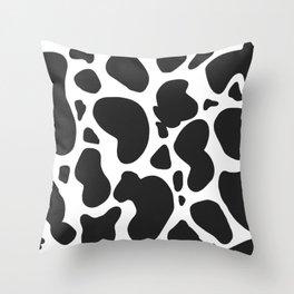 Cartoon Cow Print Throw Pillow
