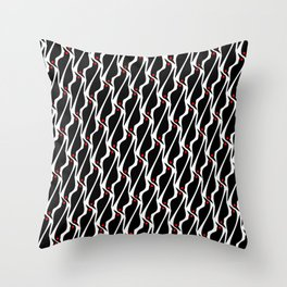 Asian glossy starling pattern Throw Pillow
