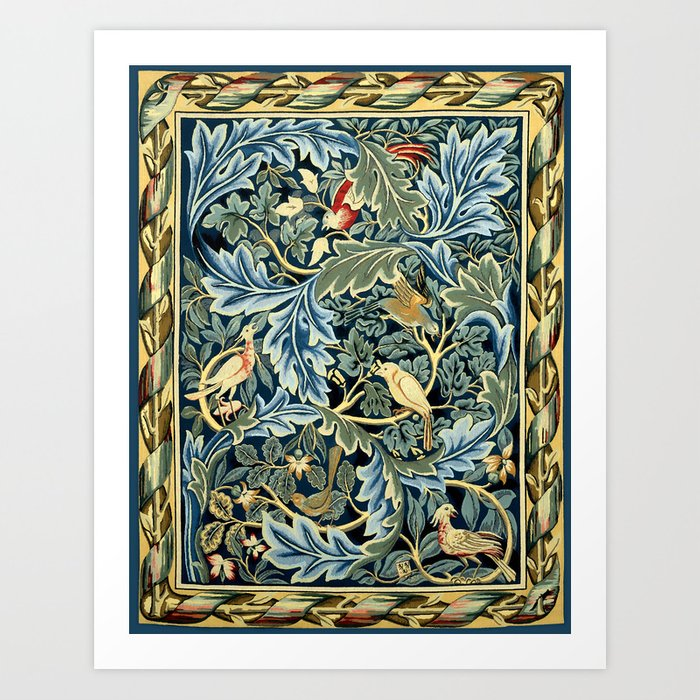 "William Morris ""Birds and Acanthus"" Kunstdrucke"