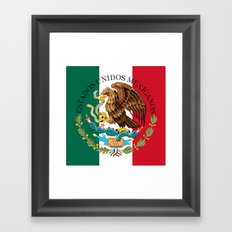Mexican National Coat of Arms & Seal on flag colors (HQ image)  Framed Art Print