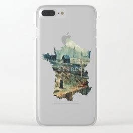 Snow In The Vaucluse Clear iPhone Case