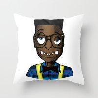 nerd Throw Pillows featuring Nerd by DeMoose_Art