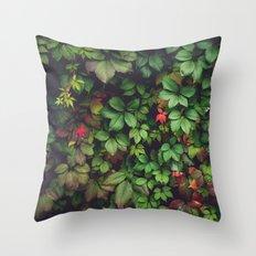 Green creeper Throw Pillow