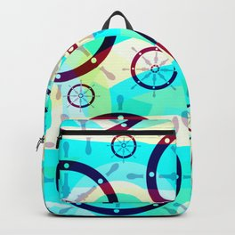 Ship wheels Backpack