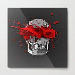 Skull Infected  Metal Print