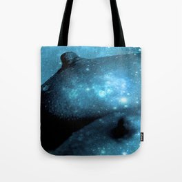 Teal Galaxy Breasts / Galaxy Boobs Tote Bag