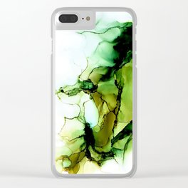 Green Bloom Clear iPhone Case