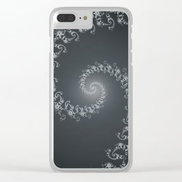 Follow the White Light - Fractal Art Clear iPhone Case