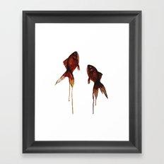 free fishes Framed Art Print