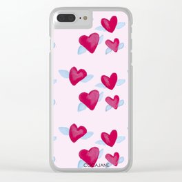 Jet Love Clear iPhone Case