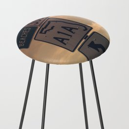 A1A South To The Beaches Counter Stool