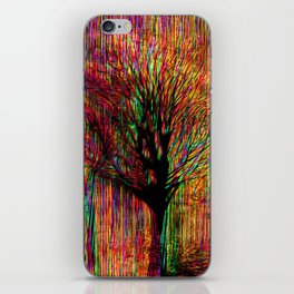 Abstract tree on a colorful background iPhone Skin