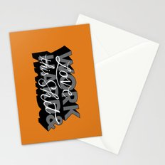 Work Hard & Love This Shit Stationery Cards