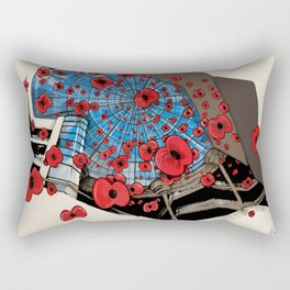 West Orchards Poppy Drop Rectangular Pillow