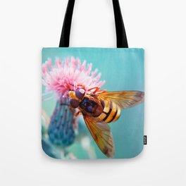 Hoverfly Macro 40 Tote Bag