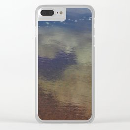 Clouds in the Sand at Widemouth Bay Clear iPhone Case