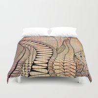quilt Duvet Covers featuring Quilt Design by neena