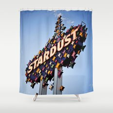 Vintage Stardust Sign, Las Vegas Shower Curtain