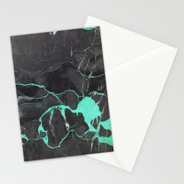 Grey and Blue Marble Stationery Cards