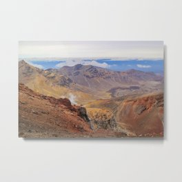 Tongariro Alpine Crossing Metal Print