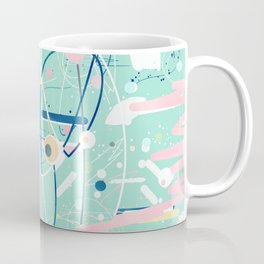 Modern mint strokes and dots creative art Coffee Mug