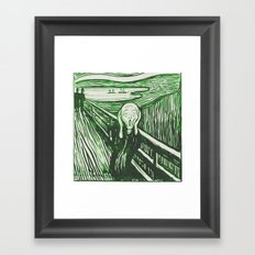 The Scream's Haze (green) Framed Art Print