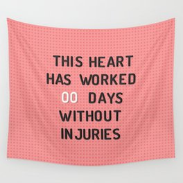 PEG BOARD SAFETY SIGN Wall Tapestry
