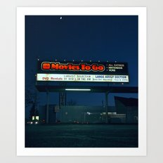 Movie rentals Art Print