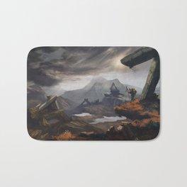 Stone valley | Fantasy landscape concept art Bath Mat
