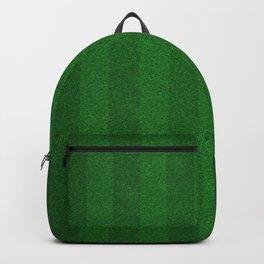 Football, Soccer field stadium, Green grass stripes background  Backpack
