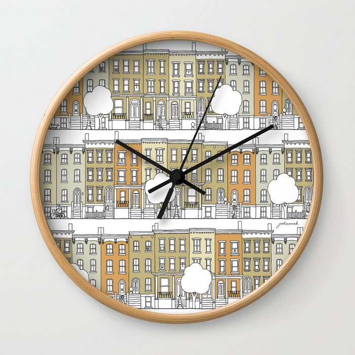 Brooklyn (color) Wall Clock